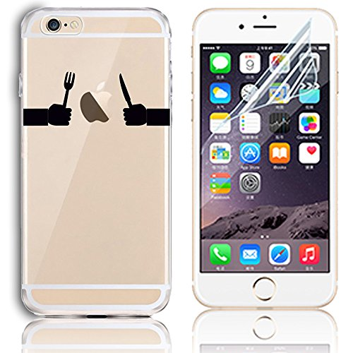 Coque iPhone SE, Coque iPhone SE 5S 5 Transparent Etui Housse de Protection TPU Silicone Gel Souple Clair Crystal Case Cover Sunroyal® Ultra Mince Premium Telephone Portable Skin Hybrid Clear Bumper [ Motif 16