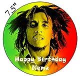 Bob Marley inspiriert Essbarer Zuckerguss Kuchen Topper vorgeschnittenen–Personalisieren bei die (Review Bestellung) Abschnitt