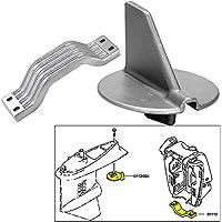 Tecnoseal ánodo Kit W3/Hardware–Yamaha 150–200HP mano izquierda rotación–Zinc