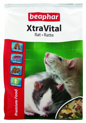 XtraVital Ratten Futter | Leckeres Futter für Ratten | Enthält Alfalfa | Mit Truthahn-Fleisch | Ohne Zusatz von Nüssen & Samen | 2,5 kg (Für Ratten Schlangen)