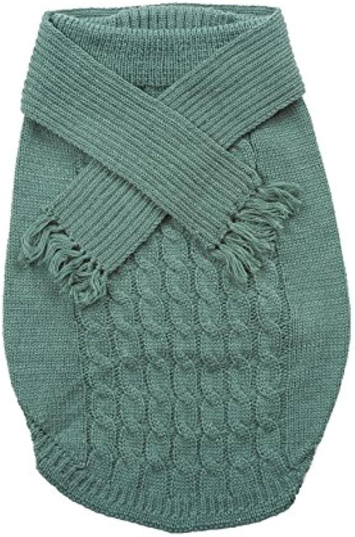 Pet Fashion Moda al aire libre de mascota Perro Bufanda Jersey, talla XS, color verde