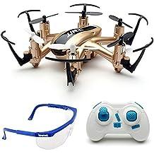 Haibei H20 Hexrcopter 2.4G 4 Canales 6 Axis Gyro Drone Rc Quadcopter 3D Modo sin Cabeza Rollover (Oro)