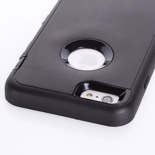 Pour IPhone 6 Plus / 6s Plus, 3 In 1 Hybrid Silicon & Plastic Protective Case JING ( SKU : S-IP6P-2625D ) S-IP6P-2625B