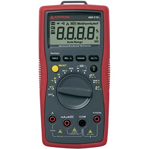 Amprobe AM-510-EUR Digitale Multimeter, RMS 3999 Digits, 600 VAC, 600 VDC, 10 ADC (600 Rms)