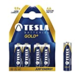 TESLA Gold + Batterien AA 40 Stück - Super Alkaline Battery (40-er Pack)