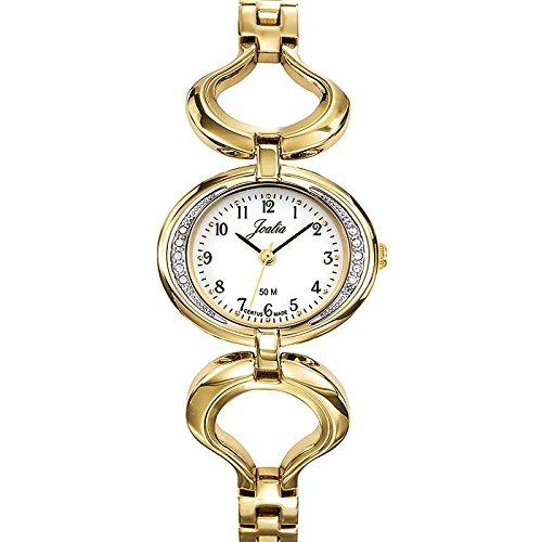 Joalia-631934-Orologio da donna con cinturino quadrante, in metallo dorato