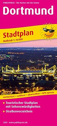 Dortmund: Touristischer Stadtplan mit Sehenswürdigkeiten und Straßenverzeichnis. 1:16000 (Stadtplan / SP)