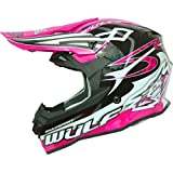 Wulf Sceptre Motocross Helmet S Black Pink