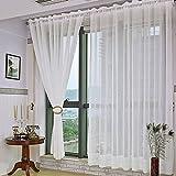kinlo x cm cortinas cortina de gasa cortina drapeadas tul