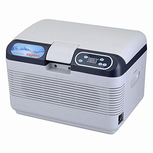 Ffion Mini-Kühlschrank Tragbarer Kühler/Heizung Haushalt Auto Intelligente Horizontale Hohe Kapazität 12L Weiß -