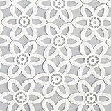 Fabulous Fabrics Organza Blumenstickerei – Weiss —