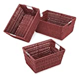 Whitmor Rattique Storage Baskets, Set of...
