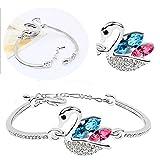 Cyan swan shaped multicolor bracelet for...