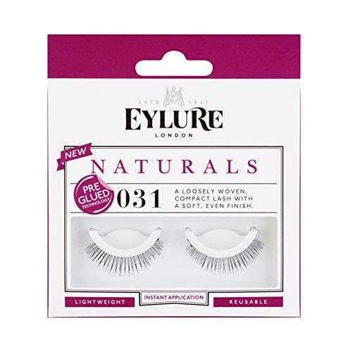 Eylure Naturals No. 031 Pre-Glued, 1er Pack (1 x 2 Stück) (Wimpern 100 Echthaar)