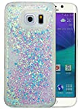 Coque Samsung Galaxy S6 Edge Silicone Nnopbeclik Paillettes Briller Style Backcover Doux Soft Transparente Housse pour Samsung Galaxy S6 Edge Coque Silicone 'G925F' (5.1 Pouce) Antichoc Protection Antiglisse Anti-Scratch Etui 'NOT FOR S6' - [Bleu3]