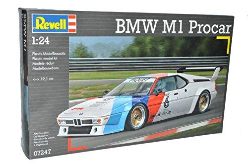 Revell BMW M1 E26 Procar 1978-1981 07247 Bausatz Kit 1/24 Modell Auto mit individiuellem Wunschkennzeichen