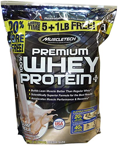Muscletech 100% Premium Whey Protein Plus Deluxe Vanilla, 2721 g