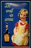 Blechschild Maggi Flasche Kind Mädchen Blech Schild Replika Werbeschild Nostalgieschild