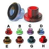 Vaportown Epoxidharz Drip Tipp für Aspire cleito 120 mouthpieaces Kappen mit Gummidichtung (G - Blue/Black)