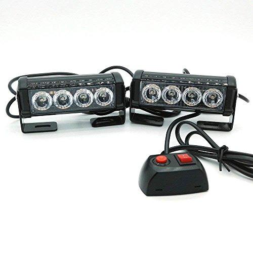 heinmo 2X4 LED Auto Polizei Strobe Flash Light 10 Modi Automatische Warnung Licht 12 W High Power Vorsicht Lampe ... Strobe Assembly
