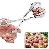 AOLVO - Cuchara de Acero Inoxidable para Hacer Bolas de Carne y béisbol para Tartas o Carne, para Cocina Large
