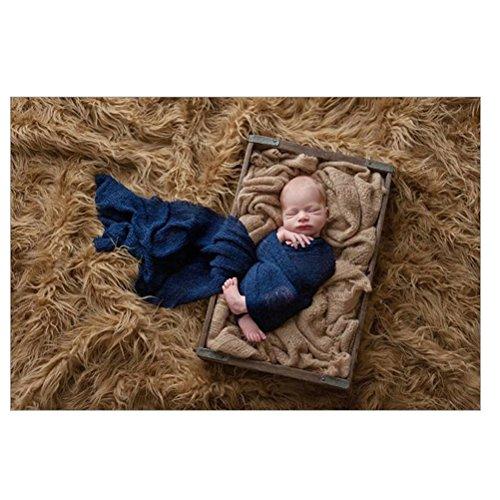 Tinksky Rizado largo abrigo rosa beb/é DIY fotograf/ía abrigo beb/é foto atrezzo favores