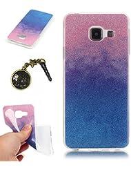TPU Coque Samsung Galaxy A3 (2016) A310 (4,7 pouces), Bling Bling Gliter Sparkle Coque Paillette [ Ultra Mince ] Housse Etui Premium Coque pour Galaxy A3 (2016) A310 (4,7 pouces) +Bouchons de poussière (15RR)