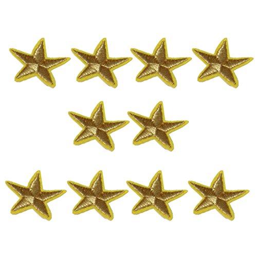 Sharplace Sterne Aufnäher Patches Applikationen Sterne zum aufbügeln 10 er / Set