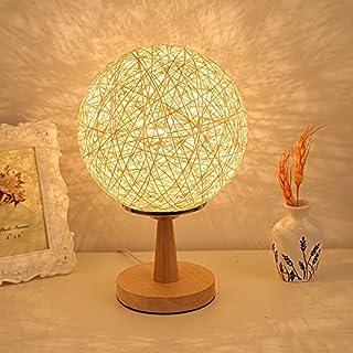 akldigital fashion creative hemp rope dimmable table lamp modern eye-care lamp wood art deco bedroom bedside light dimmer switch