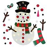 YQing 38 Pollici Felt Snowman, Feltro Pupazzo di Neve Decorazione Natalizia Albero Natale Feltro per la Decorazione della Natalizia Parete del Portello dei Bambini