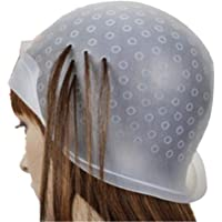 TWIREY Silicone Highlight Cap Hair colouring Dye Cap with Metal Hook