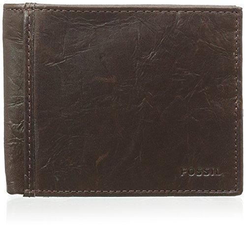 Fossil Herren Ingram Geldbörse, Braun (Brown), 1.9 x 8.9 x 11.1 cm