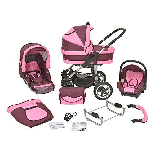 Kombi-Kinderwagen-Premium-3-in-1-Kombikinderwagen-Buggy-bordeaux-rosa