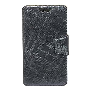 Jo Jo Cover Krish Series Leather Pouch Flip Case With Silicon Holder For ZTE Grand Memo II LTE Grey