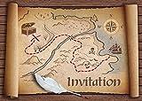 Invitations en Français Chasse au trésor: Paquet de 10 Cartes d'Invitation pour Un Prochain Anniversaire d'Enfant / fête des Pirates des Editon Colibri (10727 FR)...