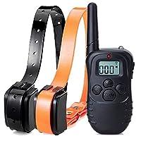 4 Mode Rechargeable LCD Collier de dressage pour chien étanche numérique télécommande choc électrique,Pour 2 Chiens