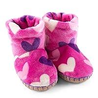 Hatley Multi Hearts Fleece Slippers
