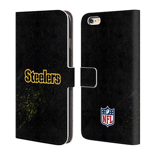 Offizielle NFL Helm Pittsburgh Steelers Logo Brieftasche Handyhülle aus Leder für Apple iPhone 6 / 6s Unschärfe