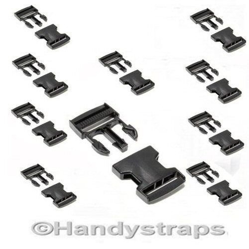 10-x-black-25-mm-plastic-side-release-buckles-for-webbing