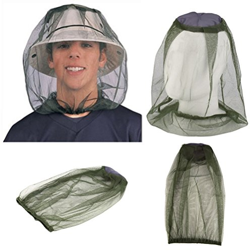 VORCOOL antimosquitos cabeza net, 4del paquete cara cuello-Red mosquitera antimosquitos Medio-Avisador de red para Outdoor Pesca
