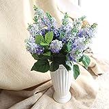 janly® 7Köpfe Seide Blüten Künstliche Blumen Bouquet groß lavendel Simulation Flores Valentine 's Day Party Home & Hochzeit Dekoration, blau, A