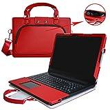 Ideapad 310 15 Funda,2 in 1 Diseñado especialmente La Funda protectora de cuero de PU + la bolsa portátil para 15.6