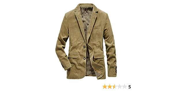 Herren Anzugjacke Cord Blazer Freizeit Sakko Casual Sportlich Jacke Business Anzug Regular Fit Mit Taschen