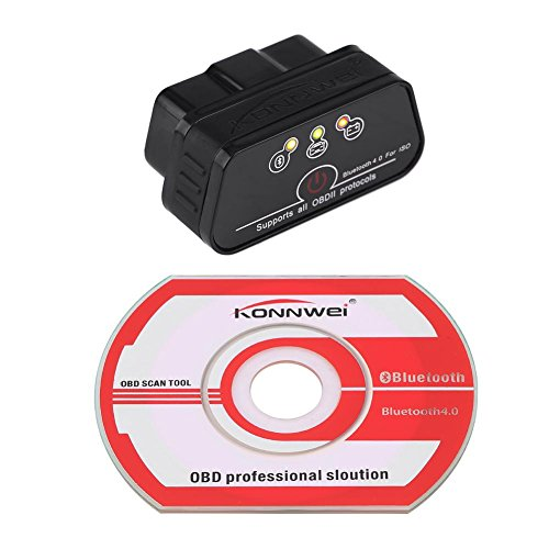Preisvergleich Produktbild Qiilu KONNWEI KW901 Bluetooth 4, 0 ODBII Auto Scanner Diagnosewerkzeug Fehlererkennung für IOS(Swarchz)