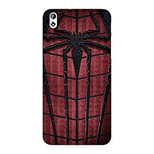 Clothing Web Red Back Case Cover for HTC Desire 816s