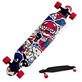 Ancheer Longboard Skateboard Board Cruiser-Komplettboard mit ABEC-9 High Speed Kugellager ,103x25x10cm
