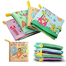 ‏‪XD-3 Baby Soft Fabric Cloth Book Set of 4 Nontoxic for 0-3yrs Old Babies [Paperback] Unknown‬‏