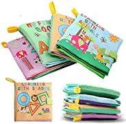XD-3 Baby Soft Fabric Cloth Book Set of 4 Nontoxic for 0-3yrs Old Babies [Paperback] Unknown