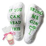 "Luxus-Gin-Socken mit ""If You Can Read This Bring Me Gin"" von Miana's (Muttertag Geschenk, lustiges Wein-Zubehör für Frauen, tolles Geburtstags- & Gastgeschenk)"