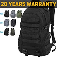VENTCY Tactical Backpack Assault Backpack Military Backpack Tactical Military Backpack Army Rucksack 26L/35L/40L Molle Military Rucksacks Army Backpack Nylon Combat Backpack for Camping Hiking Trekking Black/Gray/Army Green